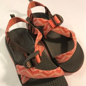 Chaco Z1 Ecotread Peach and Pink Sandals Size 3